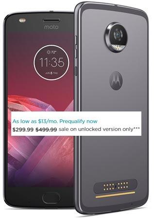 Moto Z2 Play 64GB Deal US Region USD 299