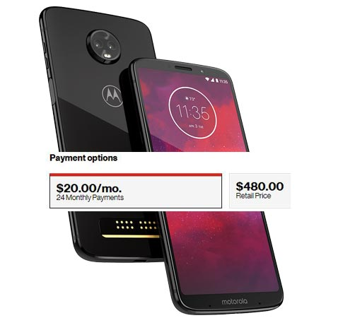Moto Z3 64 GB Available US Region USD 480