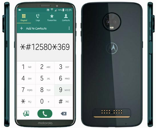 Moto Z3 Play Secret Codes