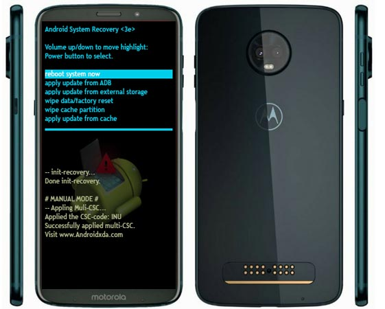 Moto Z3 Play Modes and Respective Keys