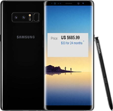 Samsung Galaxy Note 8 Dual 128 GB eBay US Region Deal USD 686