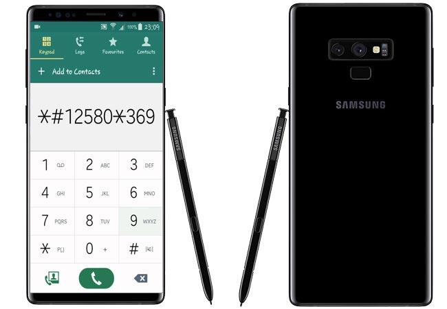 Samsung Galaxy Note 9 Secret Codes