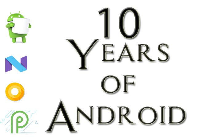 HBD Android-10 Years of Android Cover-Up
