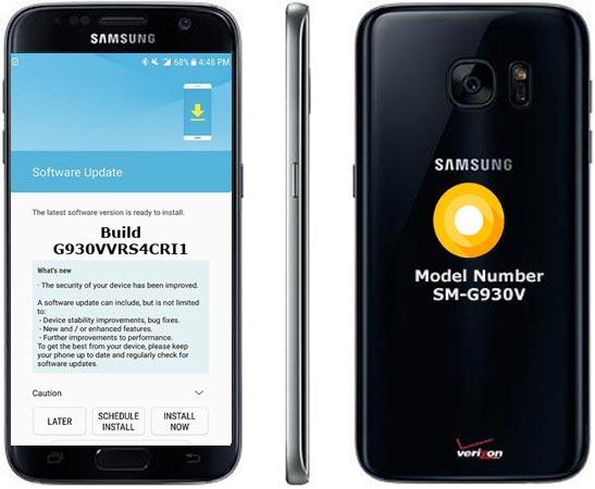 Samsung Galaxy S7 SM-G930V G930VVRS4CRI1 Update September 2018