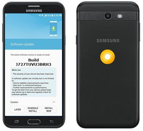 Samsung Galaxy J7 Pop T-Mobile SM-J727T Oreo Update J727TUVU3BRH3