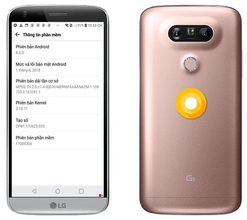 LG G5 Oreo OTA Official Update F700S30d