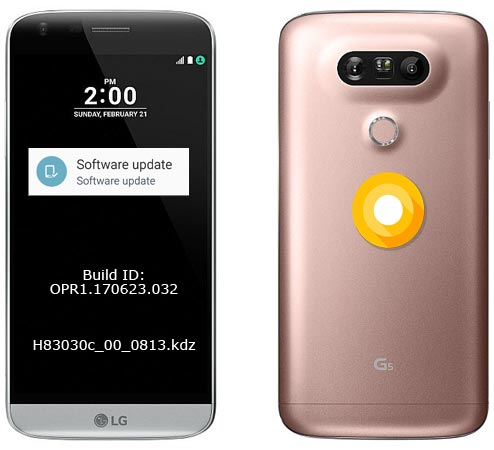 LG G5 T-Mobile Oreo Update 8.0 LG-H83030c With August 2018 Patch