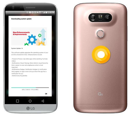 LG G5 Verizon Oreo Update 8.0 VS987 With August 2018 Patch