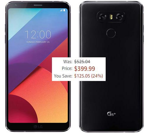 LG G6 Plus 32 GB Deal USD 400 Amazon US Region