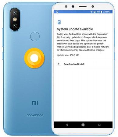 Xiaomi Mi A2 September 2018 OTA Oreo 8.1 Official Update