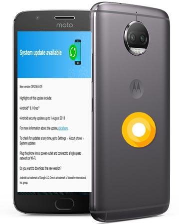 Moto G5S Plus Oreo Official OTA 8.1 Update