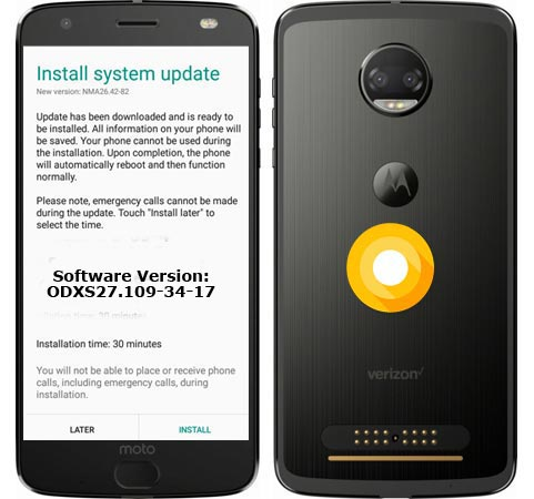 Moto Z2 Force Verizon ODXS27.109-34-17 Update September 2018