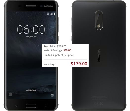 Nokia 6 Deal USD 179 Only USD 50 Offer US Region BH Photo Video