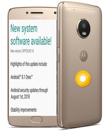 Moto G5 Oreo 8.1 Update Official OPP28.85-16