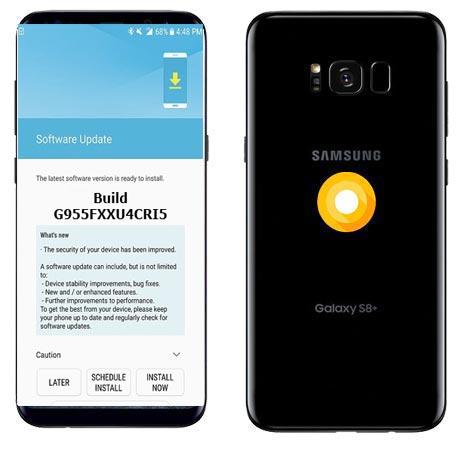 Samsung Galaxy S8 Plus SM-G955F G955FXXU4CRI5 Update September 2018