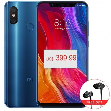 Xiaomi Mi 8 6GB RAM 64 GB ROM Global Version Deal USD 400