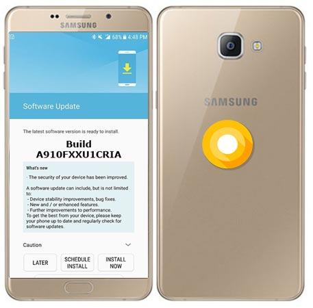 Samsung Galaxy A9 Pro 2016 SM-A910F Oreo Update 8.0 Official