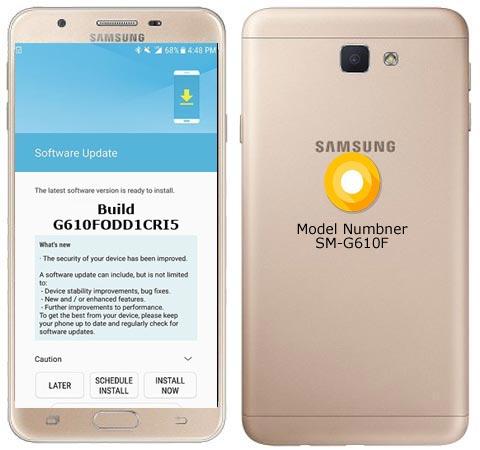 Samsung Galaxy J7 Prime G610FODD1CRI5 Update Brings October 2018 Patch