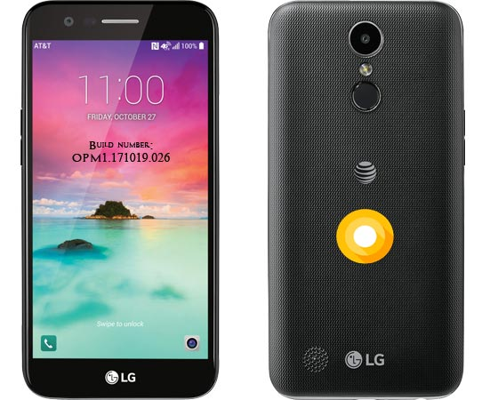 LG K20 AT&T Oreo Update 8.1 OPM1.171019.026 With October 2018 Patch
