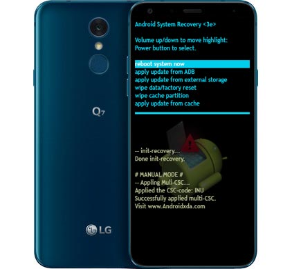 LG Q7 Modes and Respective Keys