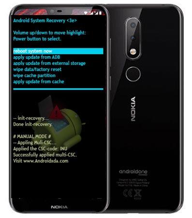 Nokia 6.1 Plus Modes and Respective Keys