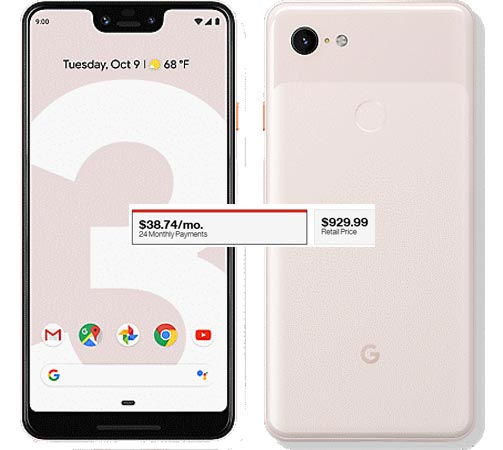 Google Pixel 3 XL Verizon Pre-Order Available USD 929 Delivery By 18 October 2018