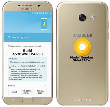 Samsung Galaxy A5 2017 Canada A520WVLU5CRJ3 Update Brings November 2018 Patch