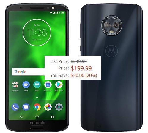 Moto G6 32 GB Amazon Deal USD 200 US Region