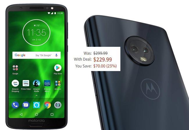 Moto G6 64 GB Amazon Deal USD 230 US Region