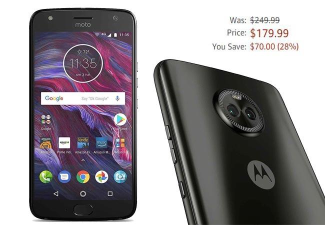 Moto X4 32 GB Amazon Deal USD 180 US Region