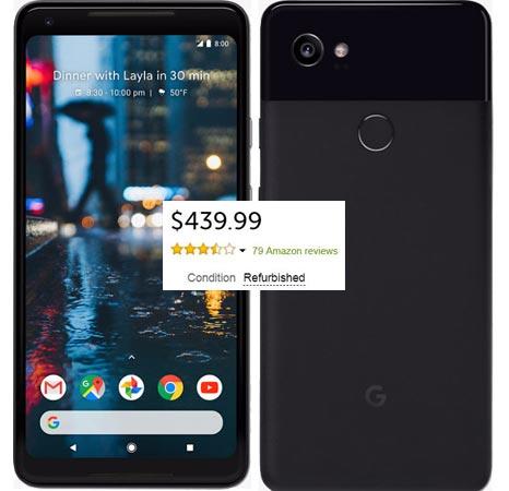 Google Pixel 2 XL 64GB Refurbished Woot Deal USD 440 US Region Black Friday Deal