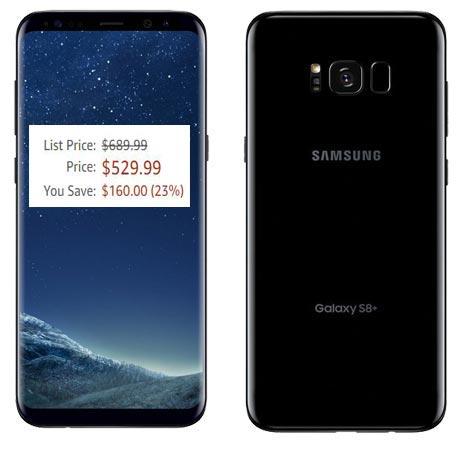 Samsung Galaxy S8 Plus 64GB Amazon Deal USD 530 US Region