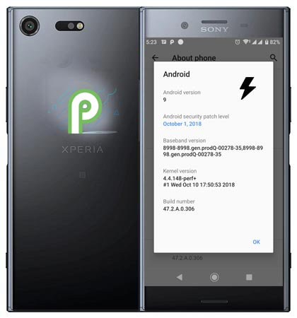 Download Sony Xperia XZ Premium Pie 9.0 Official Firmware Manual Installation