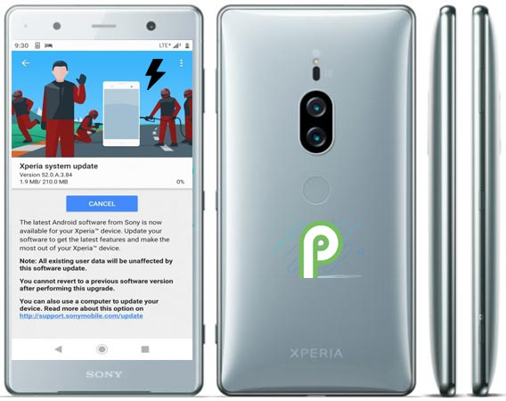 Download Sony Xperia XZ2 Premium Pie 9.0 Official Firmware Manual Installation