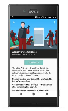 Sony Xperia XZs 41.3.A.2.192 Update Brings October 2018 Patch